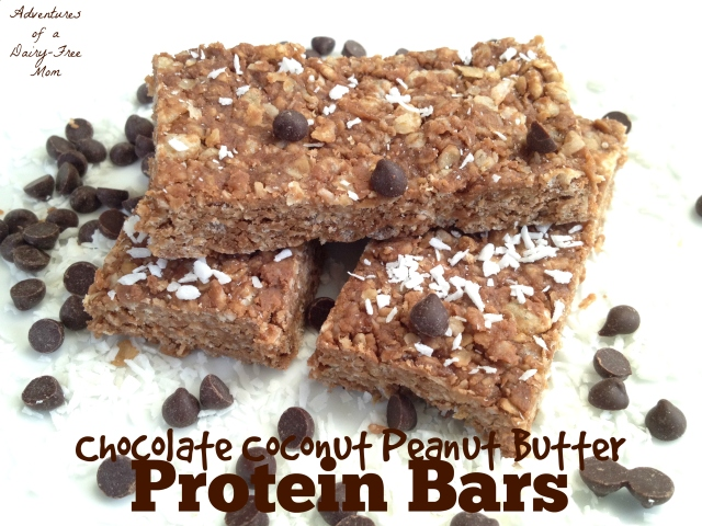 Chocolate Coconut Peanut Butter Protein Bars